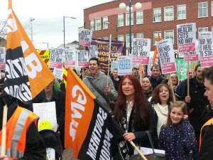 The 200-strong march organised by Kingston KONP to save A&E services in SW London